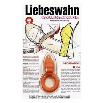 Красное эрекционное кольцо с подушечкой для клиторальной стимуляции