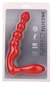 Красный силиконовый стимулятор PURRFECT SILICONE - 19 см.