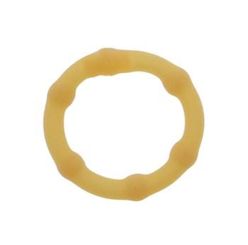 Телесное эрекционное кольцо LOVE RUBBER COCK RING