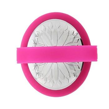 Розовая перезаряжаемая виброщёточка для клиторальной стимуляции MONA PINK