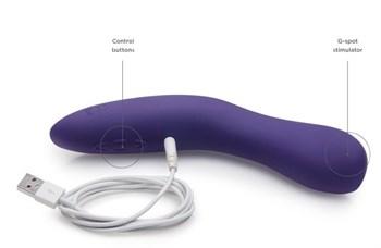 Фиолетовый вибромассажёр We Vibe Rave Purple - 19,3 см.
