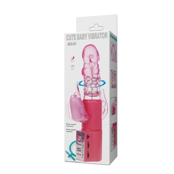 Розовый хай-тек вибратор Cute Baby Pink - 24 см.