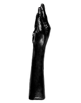 Чёрная рука для фистинга - 37 см.