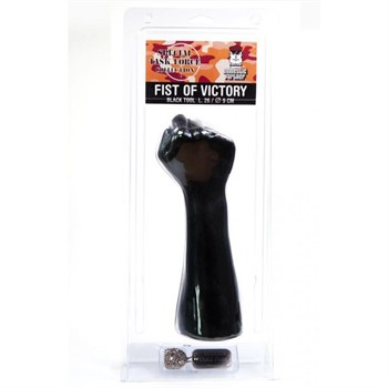 Стимулятор для фистинга Fist of Victory Black в виде руки с кулаком - 26 см.