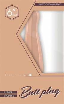 Телесный анальный стимулятор Bottom Line 6  Model 3 Rubber Flesh - 15,5 см.