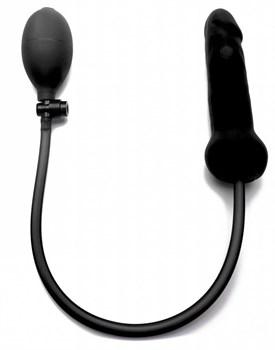 Чёрный анальный фаллоимитатор с расширением - 18 см.