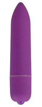 Фиолетовая удлинённая вибропуля Power Bullet Purple - 8,3 см.
