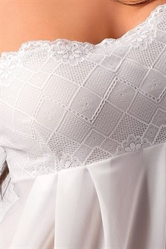 Полупрозрачная тюлевая сорочка Nicolette на тонких бретельках