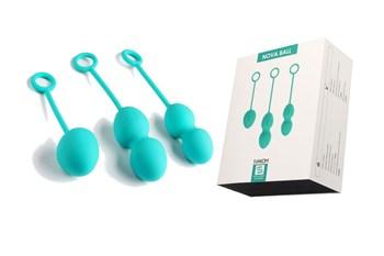 Набор зелёных вагинальных шариков Nova Ball со смещенным центром тяжести
