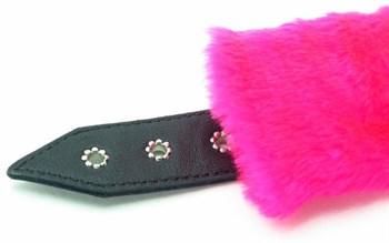 Розовые наручники с мехом BDSM Light