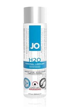 Возбуждающий лубрикант на водной основе JO Personal Lubricant H2O Warming - 120 мл.