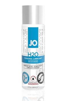 Возбуждающий лубрикант на водной основе JO Personal Lubricant H2O Warming - 60 мл.