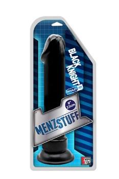 Чёрный анальный фаллоимитатор MENZSTUFF BLACK KNIGHT 9INCH BUTT PLUG - 23 см.