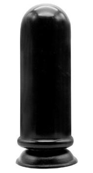 Чёрный анальный стимулятор-гигант MENZSTUFF ANAL MORTAR HUGE BUTT PLUG - 20 см.