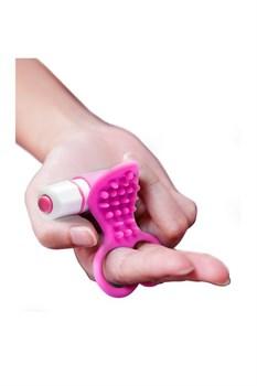 Розовый вибростимулятор с петлями для пальцев SEE YOU FINGERING PINK