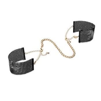 Чёрные дизайнерские наручники Desir Metallique Handcuffs Bijoux