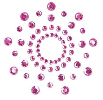 Розовые наклейки на грудь Mimi Bijoux