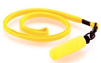 Набор из 10 жёлтых вибропулек Funny Five на шнурке