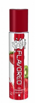 Лубрикант Wet Flavored Sexy Strawberry с ароматом клубники - 30 мл.
