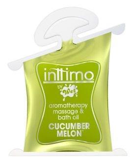 Масло для массажа Inttimo Cucumber Melon с ароматом огурчика и дыни - 10 мл.