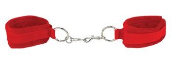 Красные наручники Velcro Cuffs Red