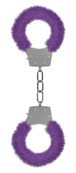 Фиолетовые пушистые наручники OUCH! Purple