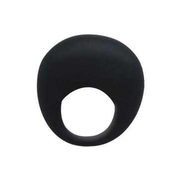 Черное вибрирующее эрекционное кольцо Trap