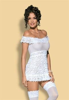 Сорочка из цветочного кружева Flores с пышными оборками