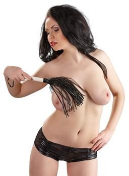 Многохвостовая чёрно-белая плеть - 39 см.