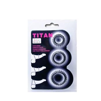 Набор из 3 ребристых эреционных колец TITAN