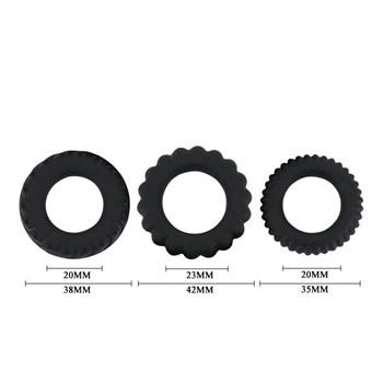 Набор Titan из 3 эрекционных колец, имитирующих автомобильные шины