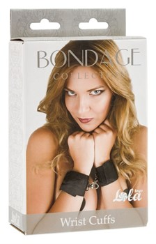Черные наручники Bondage Collection Wrist Cuffs