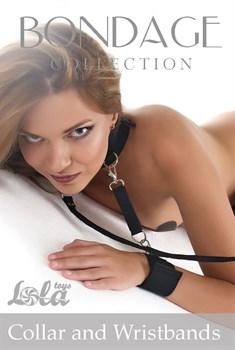 Ошейник с наручниками Bondage Collection Collar and Wristbands Plus Size