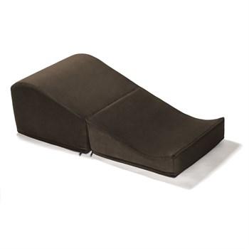 Коричневая вельветовая подушка для любви Liberator Flip Ramp