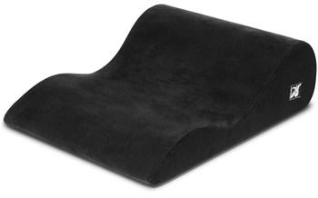Чёрная вельветовая подушка для секса Liberator Hipster