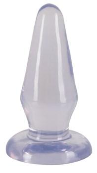 Прозрачная анальная втулка Crystal Clear - 14,5 см.