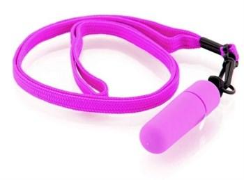 Набор из 10 фиолетовых вибраторов Funny Five на шнурке