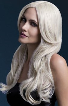 Блондинистый парик с длинной челкой Khloe