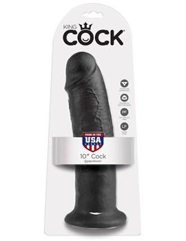 Чёрный фаллос-гигант 10  Cock - 25,4 см.