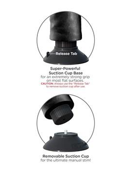 Чёрный виброфаллос со съемной присоской 9  Vibrating Cock with Balls - 22,9 см.