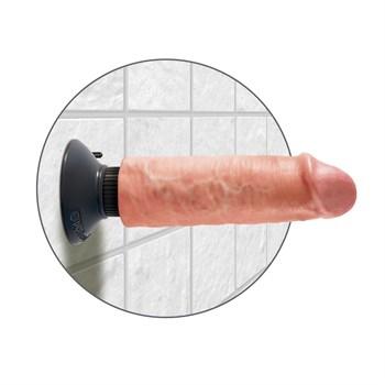 Вибромассажер-реалистик 6  Vibrating Cock - 17,8 см.