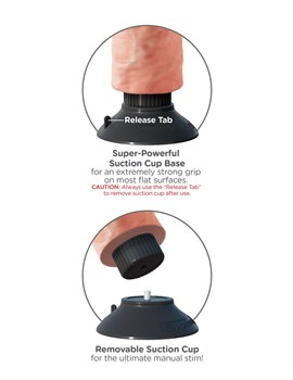 Вибромассажер телесного цвета 7  Vibrating Cock - 20 см.