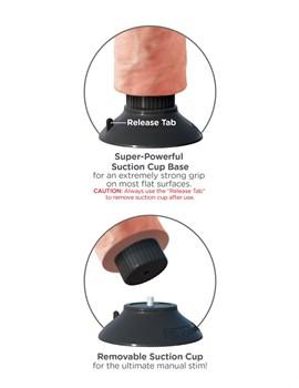 Вибромассажер на присоске 8  Vibrating Cock - 21,6 см.