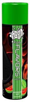 Разогревающий лубрикант Fun Flavors 4-in-1 Watermelon Blast с ароматом арбуза - 316 мл.