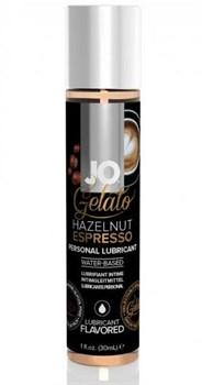Лубрикант с ароматом орехового эспрессо JO GELATO HAZELNUT ESPRESSO - 30 мл.