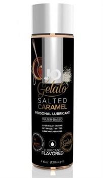 Лубрикант с ароматом солёной карамели JO GELATO SALTED CARAMEL - 120 мл.