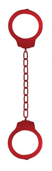 Красные металлические кандалы Metal Ankle Cuffs