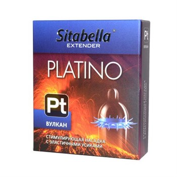 Стимулирующая насадка с усиками Platino  Вулкан