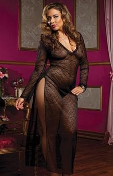 Длинное полупрозрачное платье SECRET AFFAIR