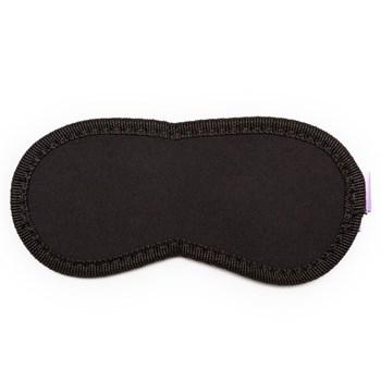 Чёрная маска на глаза Purple Black с фиолетовыми завязками